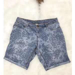 Faded Glory Denim Floral Shorts